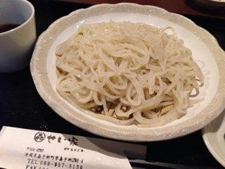 日本蕎麦工房せい家の十割ざるそば